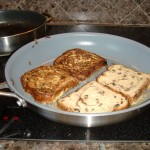 Eggnog French Toast cooking